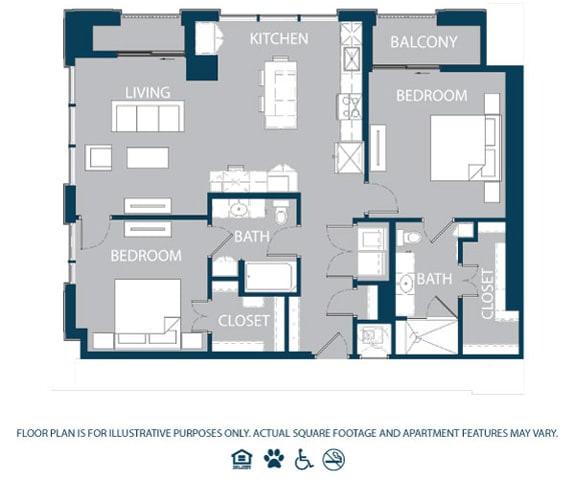 Floor Plan  Floorplan at The Jordan, 2355 Thomas Ave, TX, opens a dialog