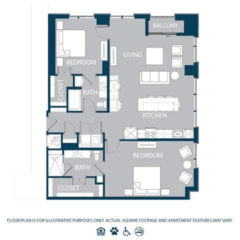 Floor Plan  Floorplan at The Jordan, 2355 Thomas Ave, Dallas, TX, opens a dialog