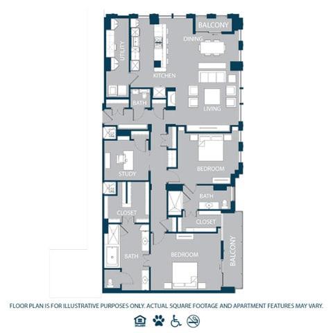 Floor Plan  Floorplan at The Jordan, 2355 Thomas Ave, TX 75201, opens a dialog