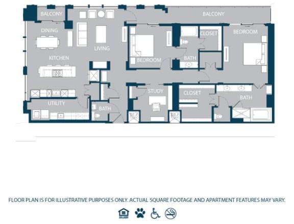 Floor Plan  Floorplan at The Jordan, 2355 Thomas Ave, 75201, opens a dialog