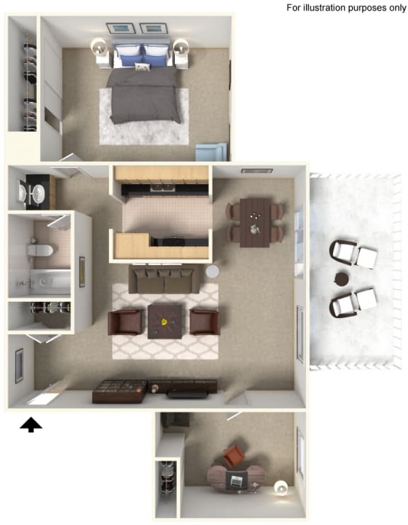 Floor Plan 828613 at Stoneridge Apartment Homes Upland 91786