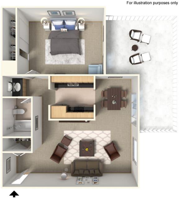 Floor Plan 828615 at Stoneridge Apartment Homes CA 91786