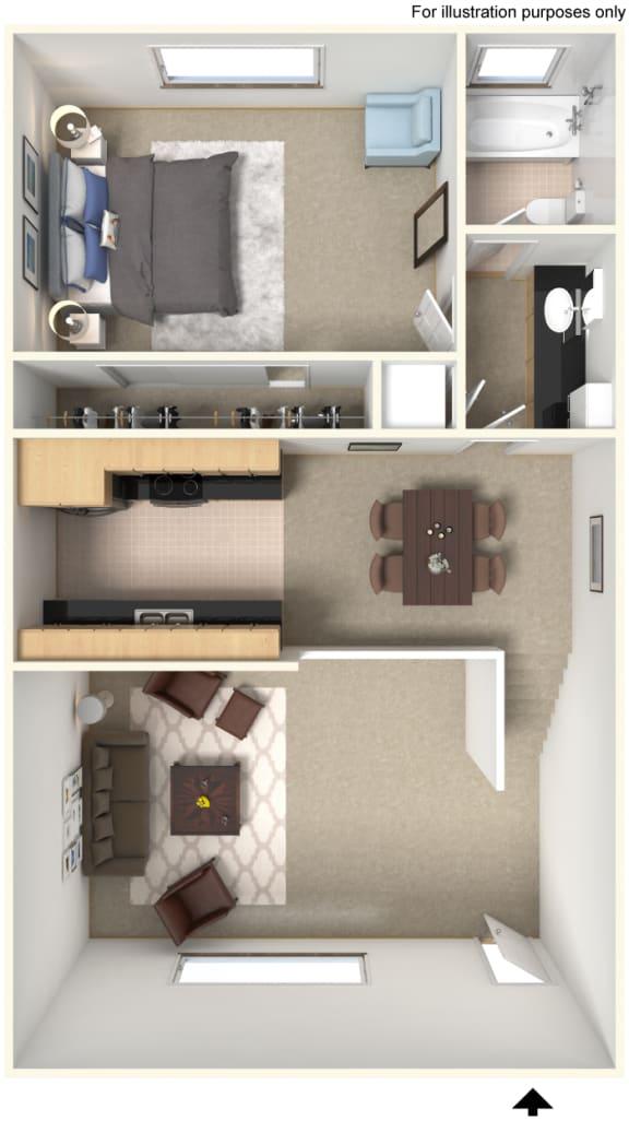 Floor Plan 828616 at Stoneridge Apartment Homes Upland, CA