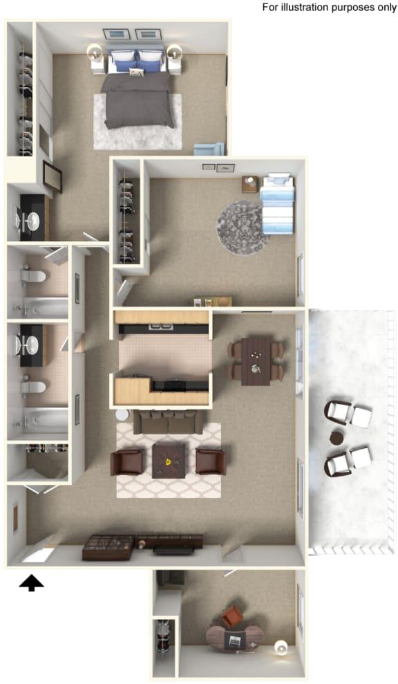 Floor Plan 905848 at Stoneridge Apartment Homes Upland, CA, 91786