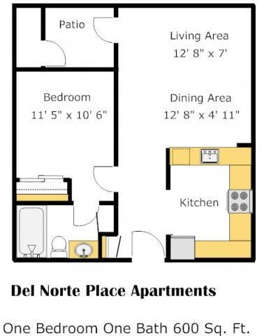 The Atlantic Limited 1 Bed 1 Bath  Floorplan at Del Norte Place, CA, 94530
