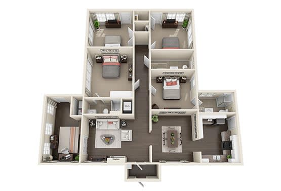 Floor Plan  1107 House - Parking included