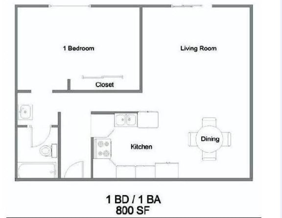 1 Bedroom Floorplan at The Marquee, CA 91605