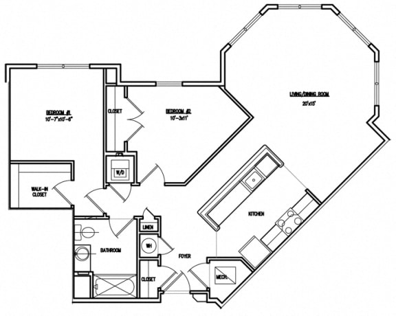 Floor Plan  Victory Court Floor Plan 2J