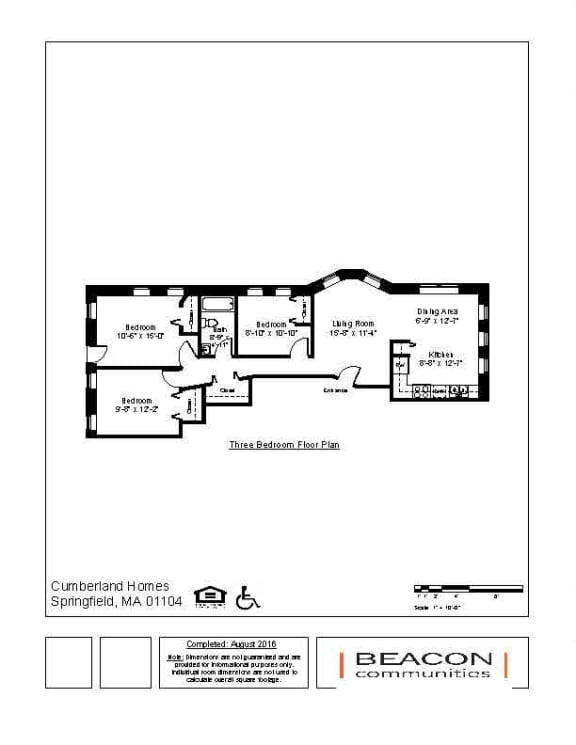 Affordable 3 bedroom apartment in Springfield, MA