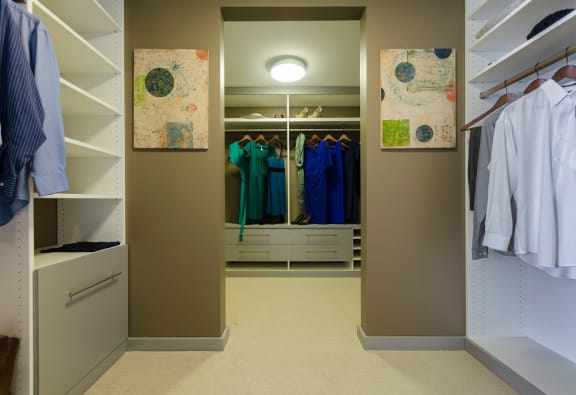 Master Closet at 1600 Vine Apartment Homes, Los Angeles, 90028