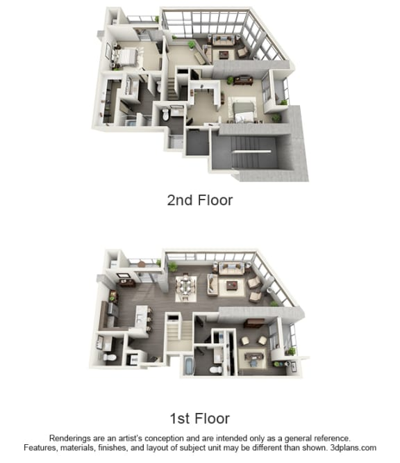 Floor Plan  Penthouses Floor Plan at 1600 VINE, Los Angeles, CA, 90028