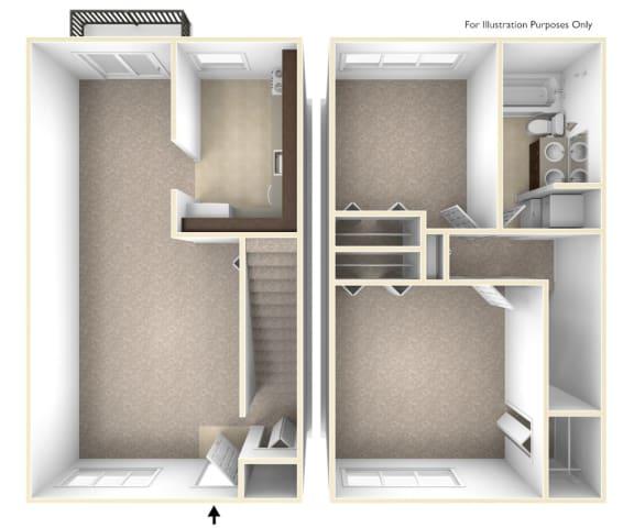Premier 2 bedroom townhome at Williamsburg Estates in Harrisburg, PA