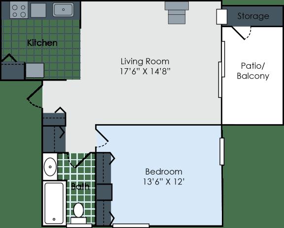 Floor Plan  Swiss 1- Standard