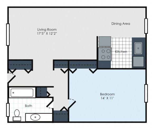 Floor Plan  Scandinavian 1- Maplewood