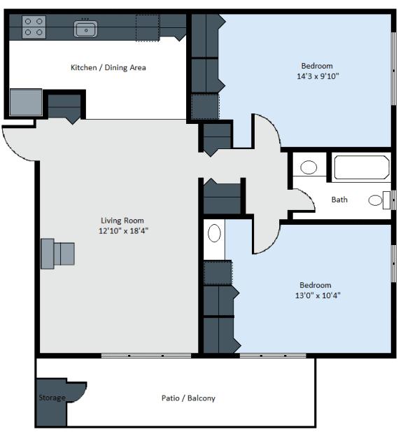 Floor Plan  Scandinavian 2- Amber Park