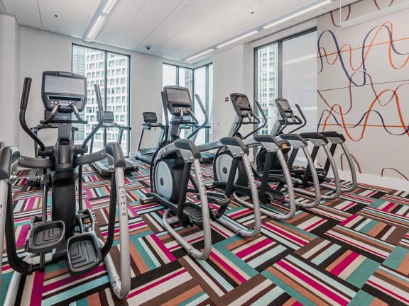 Fitness Center with Updated Equipment at State & Chestnut Apartments, 60610, IL