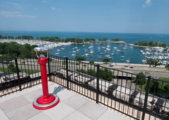 Stunning View at The Belmont by Reside Apartments, 3170 N Sheridan Rd, 60657-4830