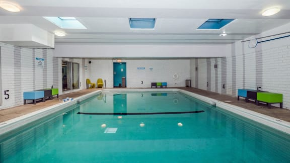 Indoor Pool at Reside 707 Apartments, Chicago, IL