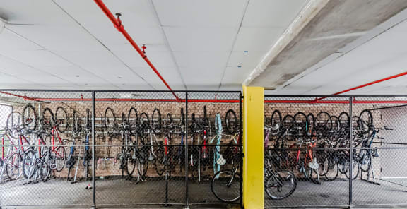 Bike Storage at Reside on Morse