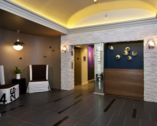 Elevator and Lobby at Reside at Belmont Harbor