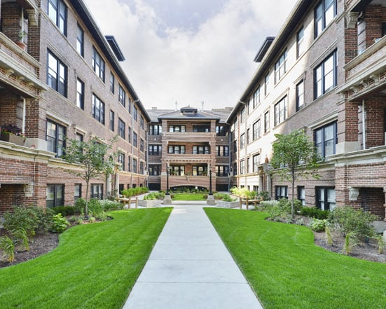 Courtyard of Reside on Irving Park