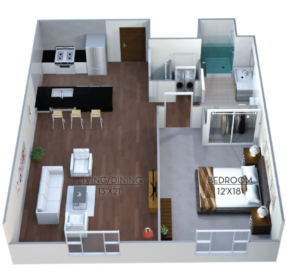 Floor plan at Linea Cambridge, Cambridge, MA 02140