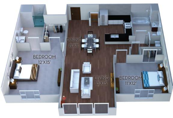 Floor Plan  Floor plan at Linea Cambridge, Cambridge,Massachusetts
