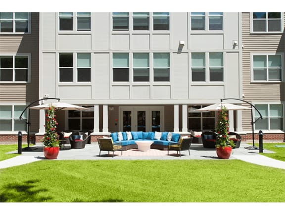 Green Courtyard at Linea Cambridge in Cambridge, MA, 02140