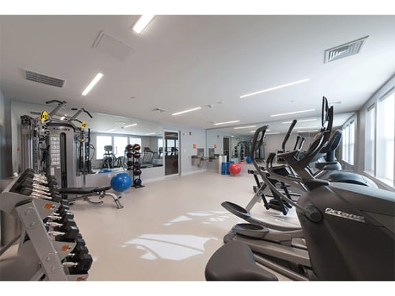 Fitness Center at Linea Cambridge, Cambridge, MA