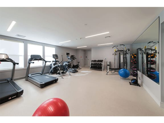 State-of-the-art Gym at Linea Cambridge in Cambridge, MA, 02140