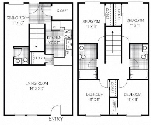 4 Bedroom 2 Bathroom Apt in Shippensburg