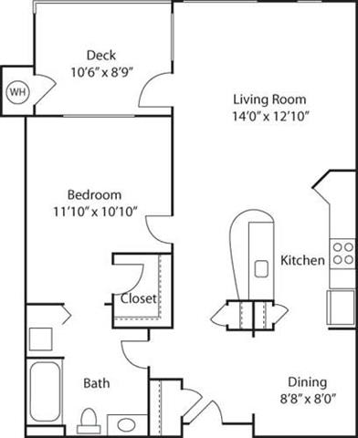 Floor Plan  B1- 55+ Adult Living Floorplan at Reunion at Redmond Ridge, Washington, 98053