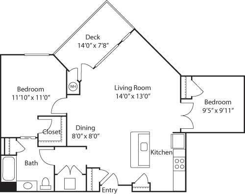 B3- 55+ Adult Living Floorplan at Reunion at Redmond Ridge, Redmond, WA