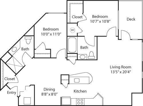 C6- 55+ Adult Living Floorplan at Reunion at Redmond Ridge, Redmond, 98053