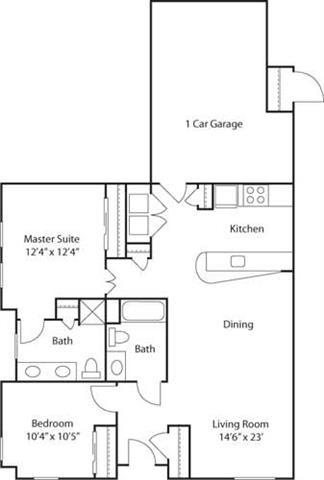 G2AC- 55+ Adult Living Floorplan at Reunion at Redmond Ridge, WA , 98053