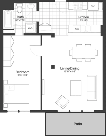 Floor Plan at Park87, Massachusetts, 02138