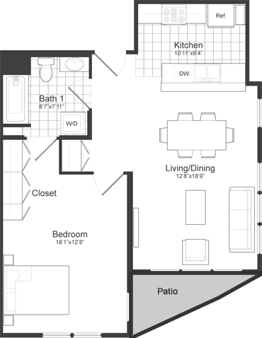Floor Plan at Park87, Cambridge