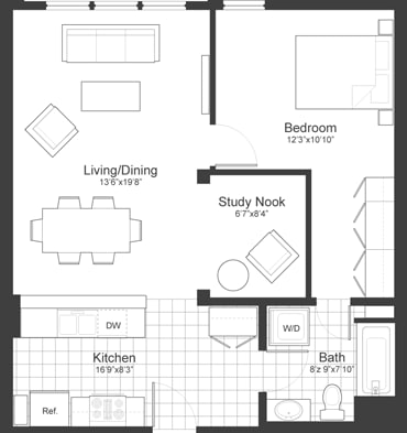 Floor Plan at Park87, Cambridge, MA