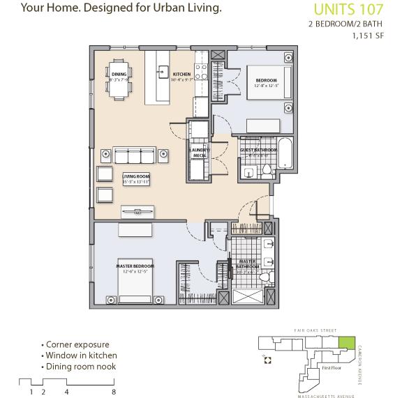 Floor Plan at 7 Cameron, Cambridge, 02140