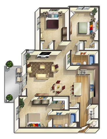 Floor Plan  Fossil Floor Plan at The Trails at Timberline, Colorado, 80525