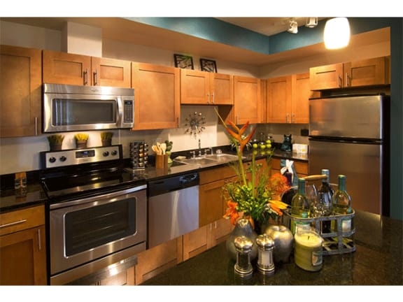 Stainless Steel Appliances In Kitchen at The Trails at Timberline, Fort Collins, CO, 80525