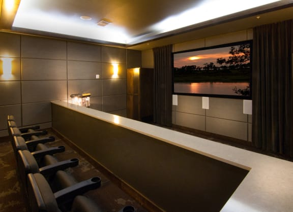 Private Theater for Residents at The Trails at Timberline, Fort Collins, Colorado