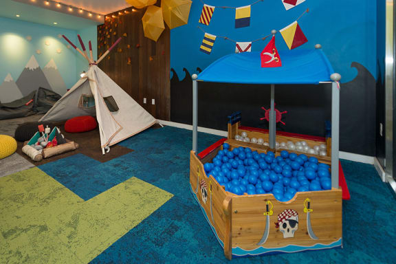 Play area, at Wentworth House,North Bethesda, MD