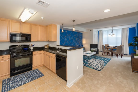 GE Appliance Package with Built in Microwave, at Wentworth House,North Bethesda, 20852