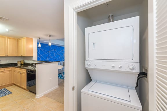 Full Size Washer and Dryer, at Wentworth House,North Bethesda, MD, 20852