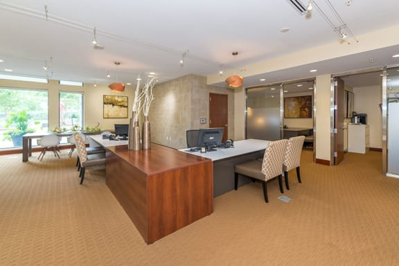 Breakfast bar with Pendant Lighting, at Wentworth House,North Bethesda, Maryland