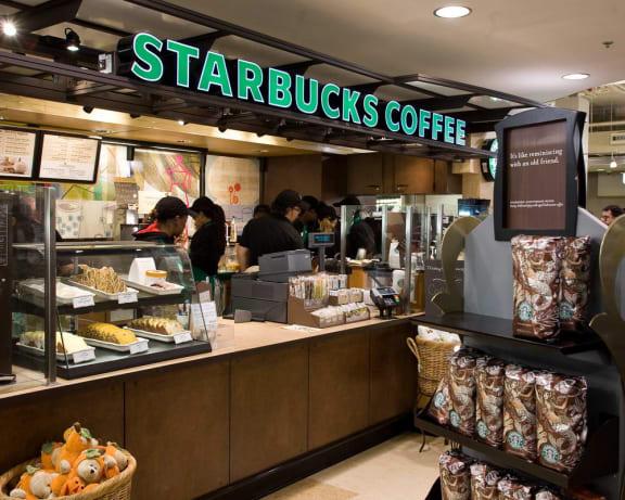 On-site Starbucks, at Wentworth House,North Bethesda, Maryland