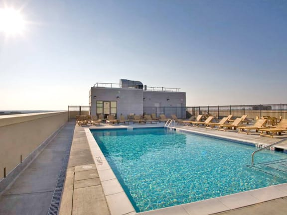 Rooftop Pool and Sun Deck, at Wentworth House,North Bethesda, 20852