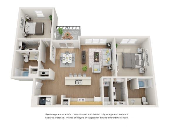 Floor Plan  Seilbold 1198 Floor Plan at Maple Knoll Apartments, Indiana, 46074