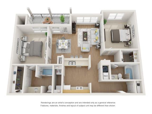 Floor Plan  Sugar Floor Plan at Maple Knoll Apartments, Indiana, 46074